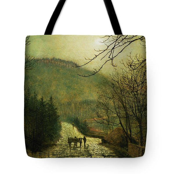 Forge Valley Tote Bag by John Atkinson Grimshaw