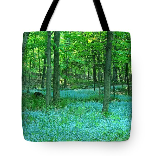 Forget-me-nots In Peninsula State Park Tote Bag