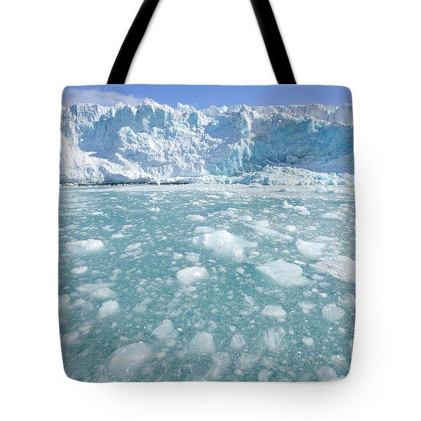 Fortuna Glacier Descending  Tote Bag