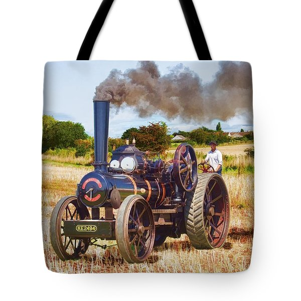 Fowler Ploughing Engine Tote Bag