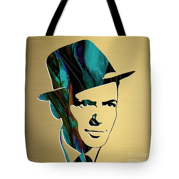 Frank Sinatra Gold Series Tote Bag by Marvin Blaine