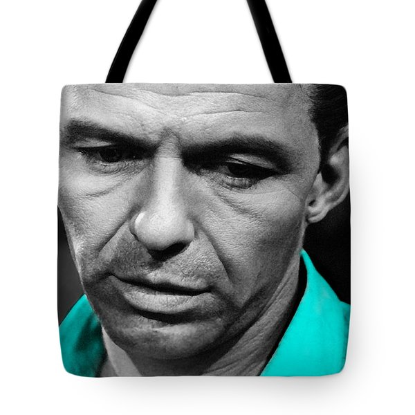 Frank Sinatra Art Tote Bag by Marvin Blaine