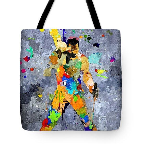 Freddie Mercury Tote Bag by Daniel Janda