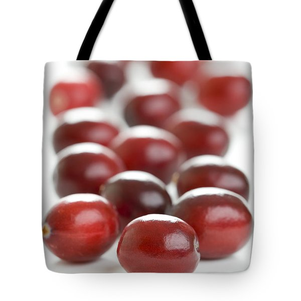 Tote Bag featuring the photograph Fresh Cranberries Isolated by Lee Avison