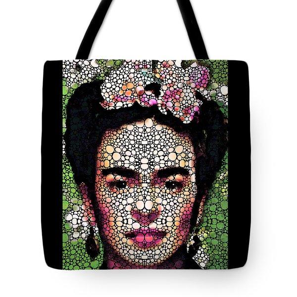Frida Kahlo Art - Define Beauty Tote Bag by Sharon Cummings