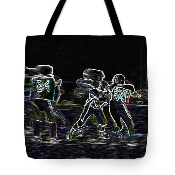 Tote Bag featuring the photograph Friday Night Under The Lights by Chris Thomas