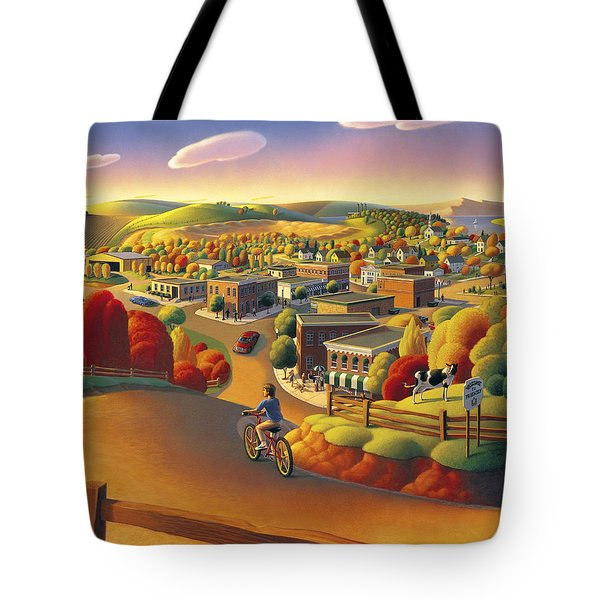 Tote Bag featuring the painting Friendly  by Robin Moline