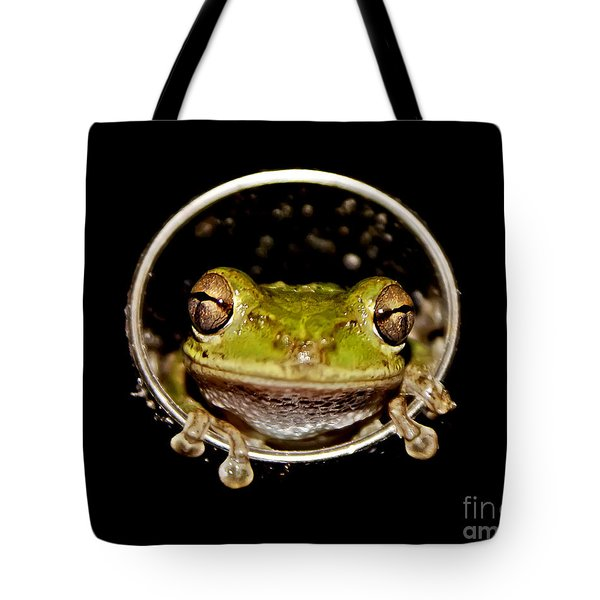 Tote Bag featuring the photograph Frog by Olga Hamilton