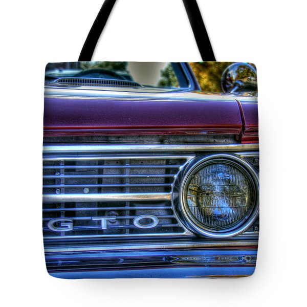 Front Left Grill Of Gto Tote Bag by Andy Lawless