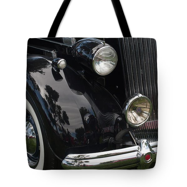 Tote Bag featuring the photograph Front Side Of A Classic Car by Gunter Nezhoda