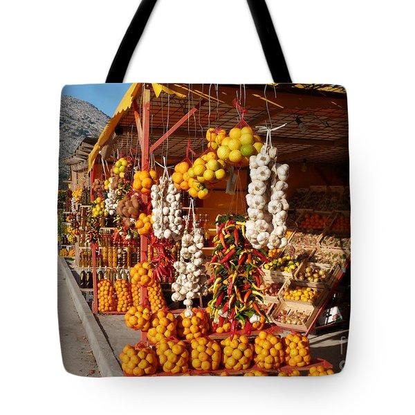 Fruit And Veg Stalls - Opuzen - Croatia Tote Bag