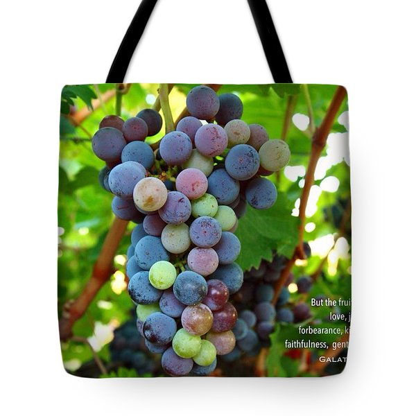 Fruit Of The Spirit Tote Bag by Lynn Hopwood