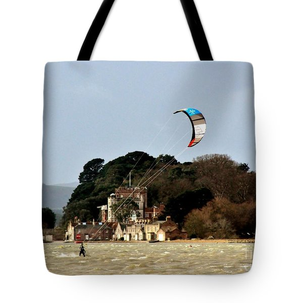 Fun On Windy Day Tote Bag by Katy Mei