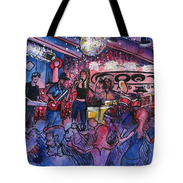 Funky Johnson At The Goat Tote Bag