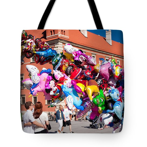 People In Love Watching Funny Balloons  Tote Bag