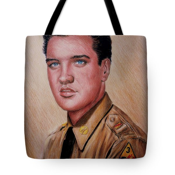 G I Elvis  Tote Bag by Andrew Read