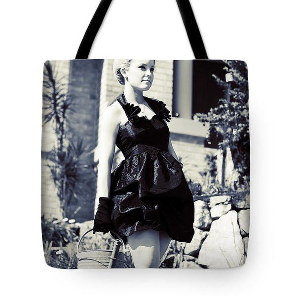Gardening In Style Tote Bag