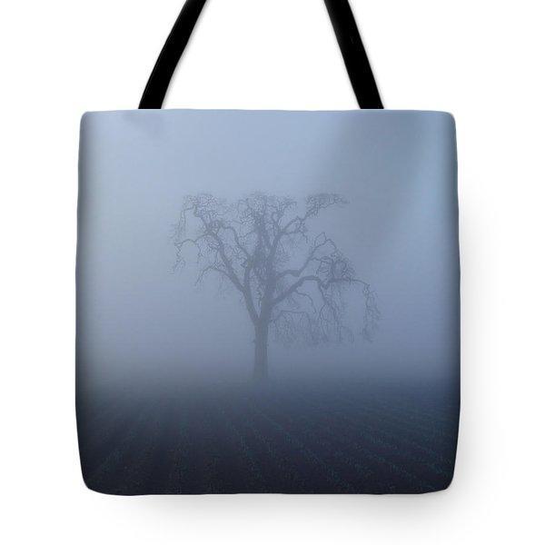 Garry Oak In Fog  Tote Bag