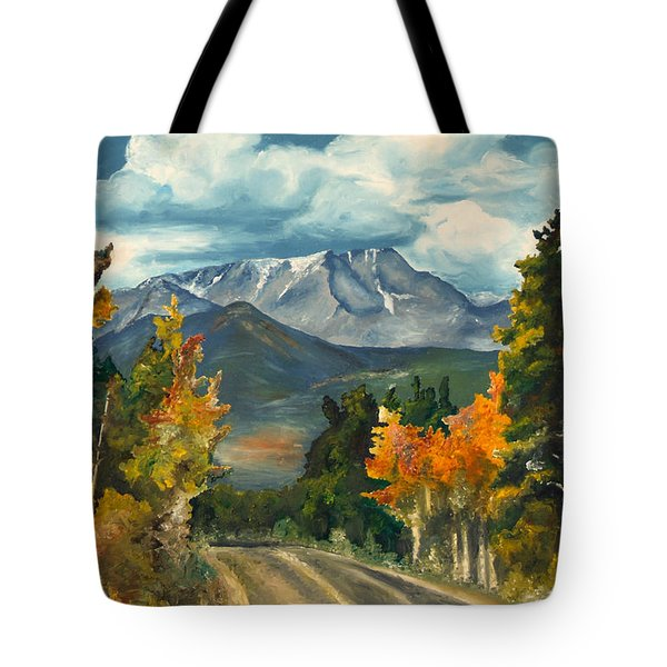 Tote Bag featuring the painting Gayle's Highway by Mary Ellen Anderson
