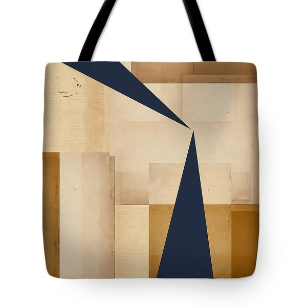 Geometry Indigo Number 5 Tote Bag