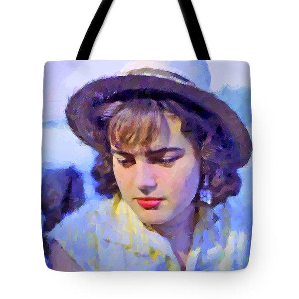 German Girl On The Rhine Tote Bag