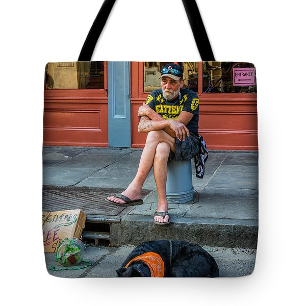 Gettin' By In New Orleans Tote Bag by Steve Harrington