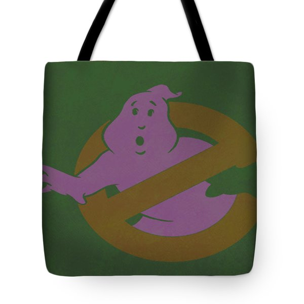 Tote Bag featuring the digital art Ghostbusters Movie Poster by Brian Reaves