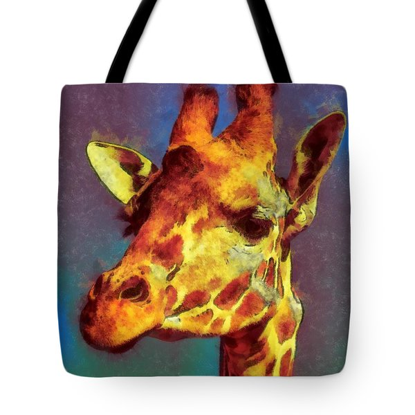 Giraffe Abstract Tote Bag