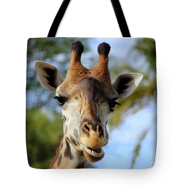 Giraffe Tote Bag by Lisa L Silva