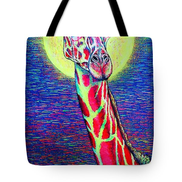Tote Bag featuring the painting Giraffe by Viktor Lazarev