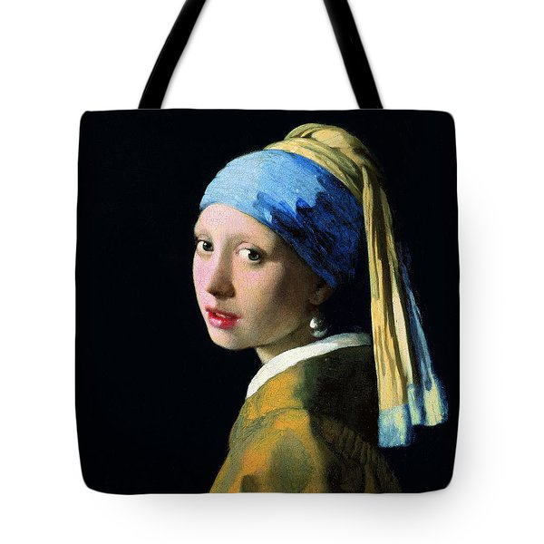Girl With A Pearl Earring Tote Bag by Jan Vermeer