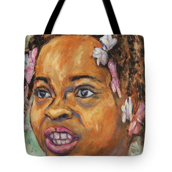 Girl With Dread Locks Tote Bag