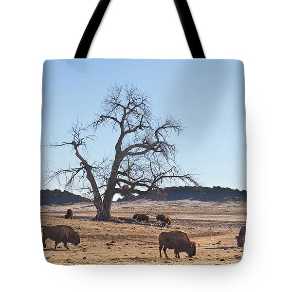 Give Me A Home Where The Buffalo Roam Tote Bag by James BO  Insogna