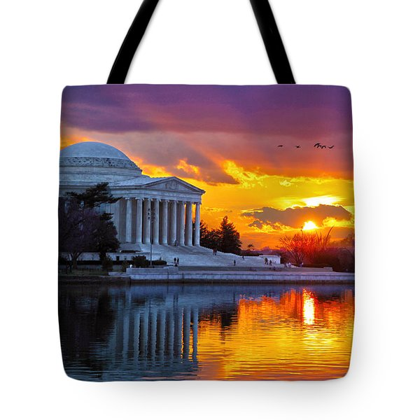 Glow Tote Bag by Mitch Cat