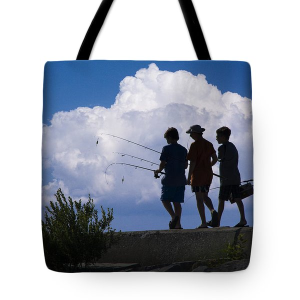 Going Fishing Tote Bag by Randall Nyhof