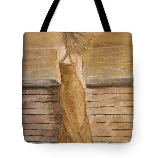 Tote Bag featuring the painting Golden Breeze by Kelly Mills