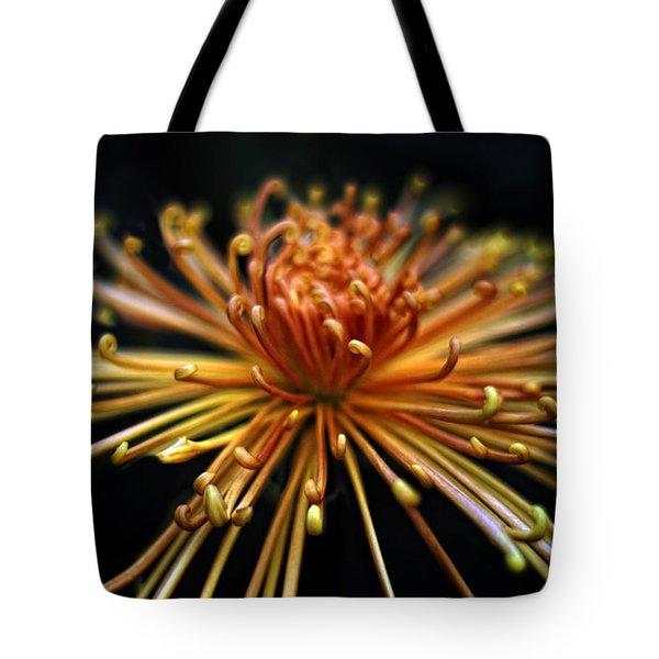 Golden Chrysanthemum Tote Bag