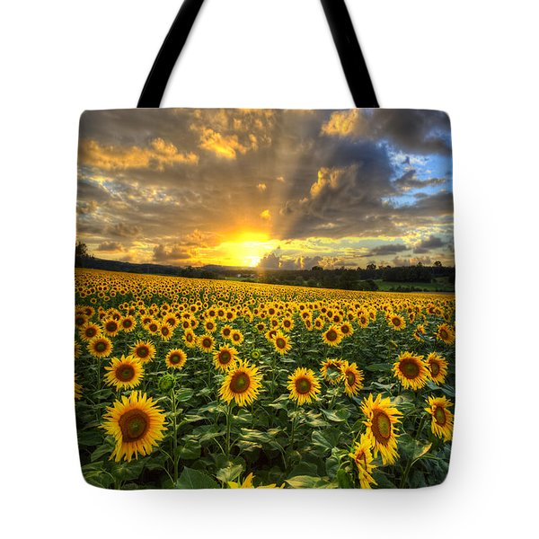 Golden Evening Tote Bag by Debra and Dave Vanderlaan