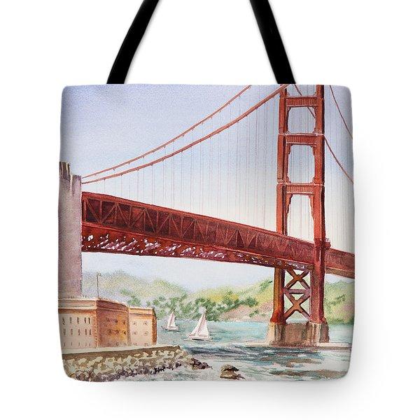 Golden Gate Bridge San Francisco Tote Bag