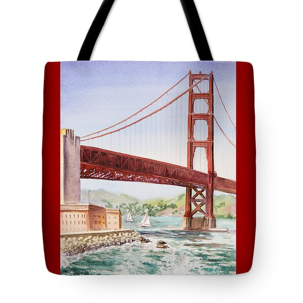 Golden Gate Bridge San Francisco Tote Bag
