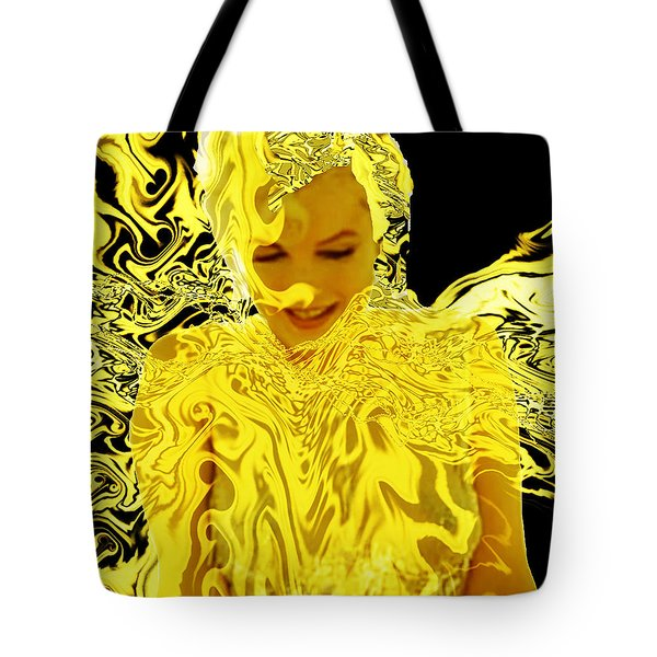 Golden Goddess Tote Bag