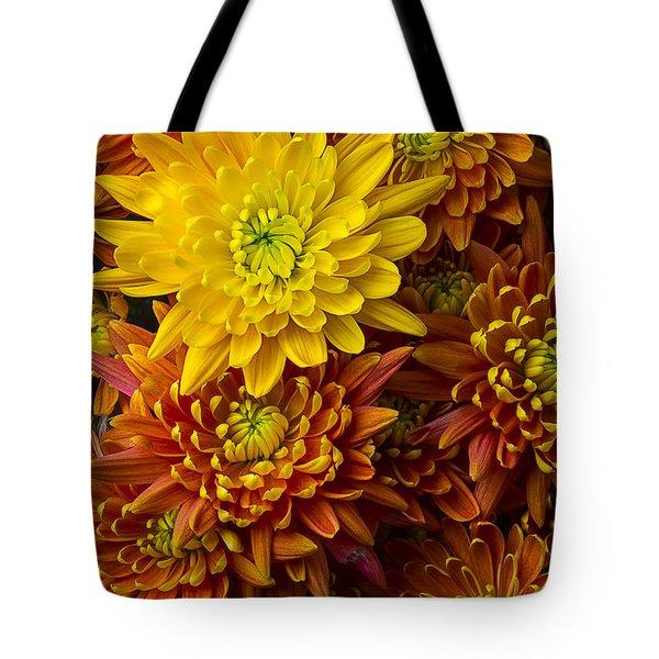 Golden Mum Tote Bag