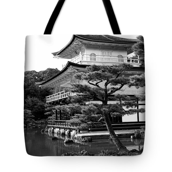 Golden Pagoda In Kyoto Japan Tote Bag by David Smith