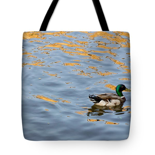 Golden Ripples Tote Bag by Keith Armstrong