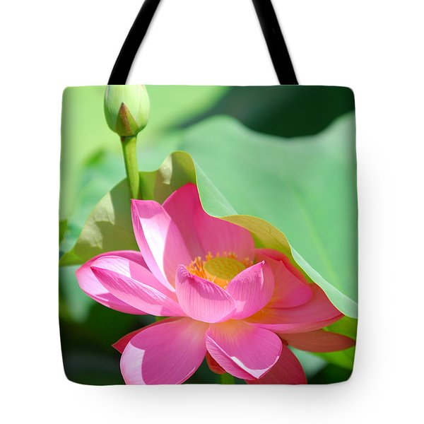 D48l-96 Water Lily At Goodale Park Photo Tote Bag