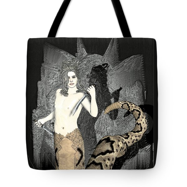 Gorgon Medusa  Tote Bag by Quim Abella