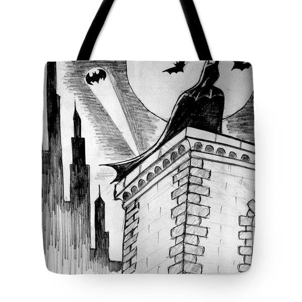 Tote Bag featuring the painting Gotham  by Salman Ravish