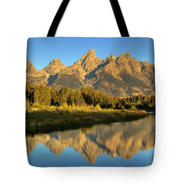 Tote Bag featuring the photograph Grand Teton by Alan Vance Ley