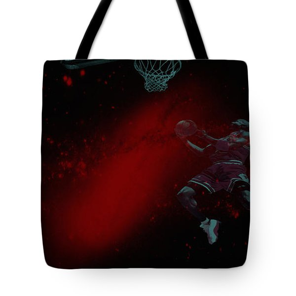Tote Bag featuring the mixed media Gravity by Brian Reaves