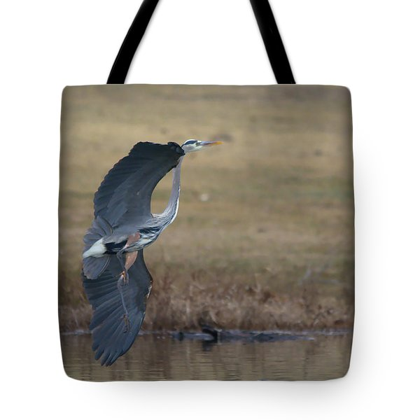 Great Blue Flight Manuever Tote Bag